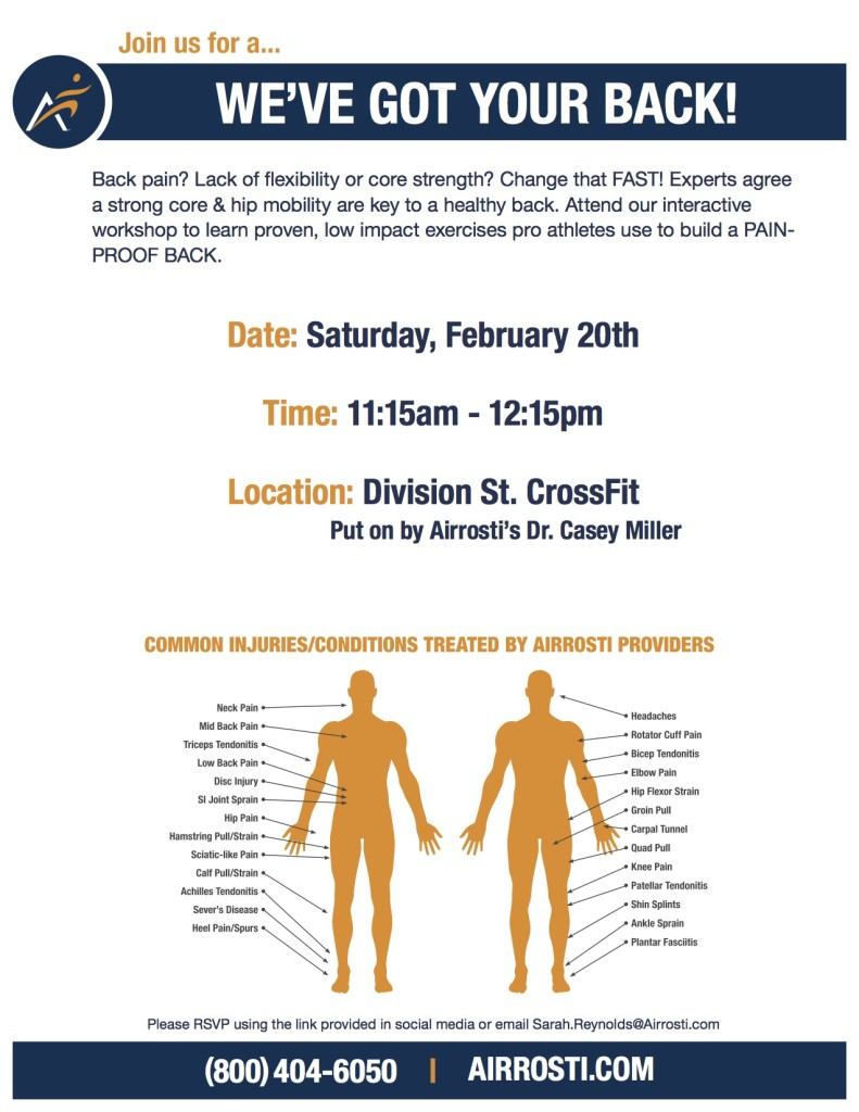 Feb 20 Division St. CrossFit Back Mobility Class Flyer