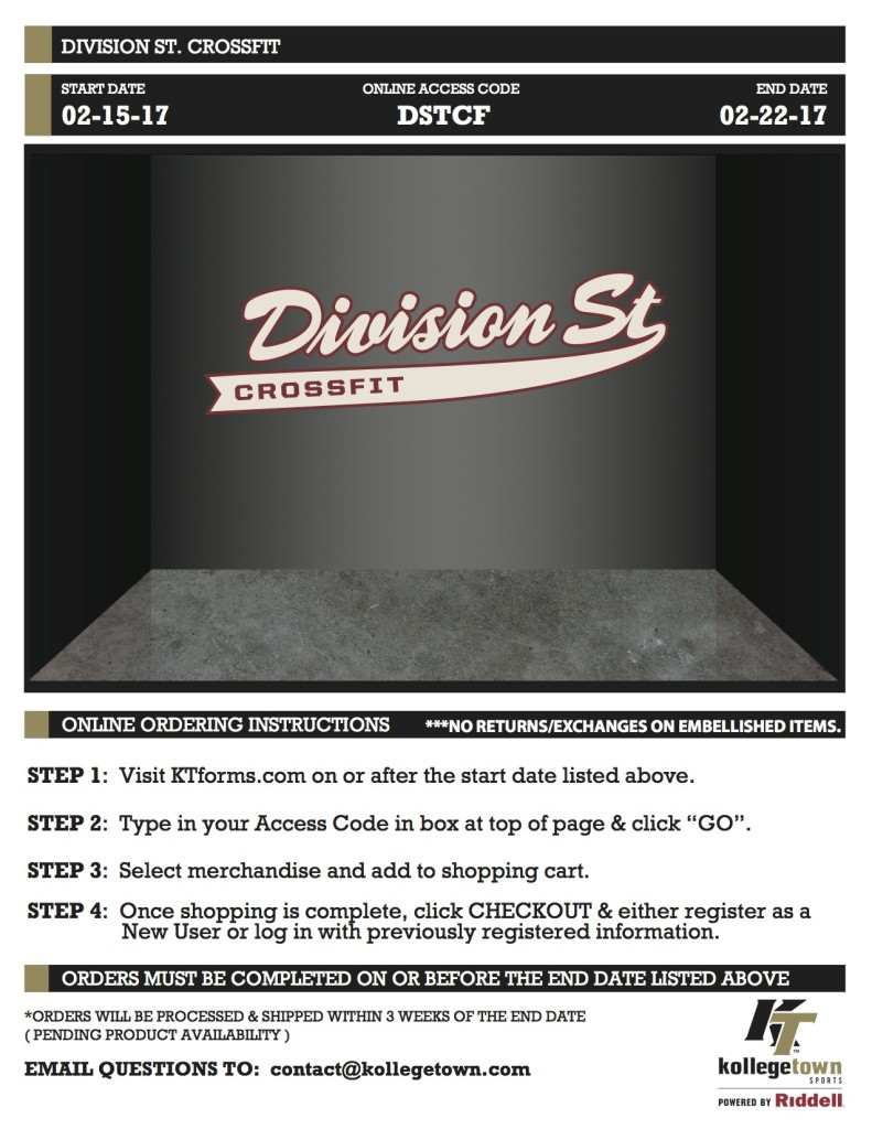 DIVISION ST. CROSSFIT.onlinestore
